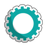 Gears machine isolated icon Stock Image