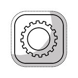 Gears machine isolated icon Stock Images
