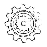 Gears machine isolated icon Stock Photography