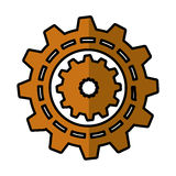 Gears machine isolated icon Stock Photo