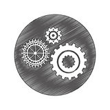 Gears machine isolated icon Royalty Free Stock Photography