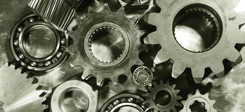Gears, machine parts in action Royalty Free Stock Photography