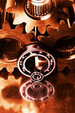 Gears, machine parts in action Stock Image