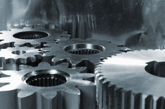 Gears machinery abstract Stock Photo