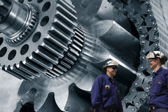 Gears machinery and engineering Stock Photo
