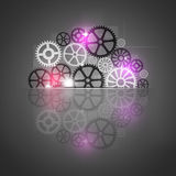 Gears Machines Desaturated Background Stock Images