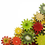 Gears made of fruit slices Royalty Free Stock Photo