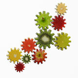 Gears made of fruit slices Royalty Free Stock Photos