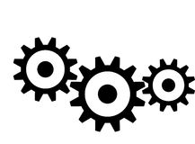 Gears Mechanical gears Royalty Free Stock Images