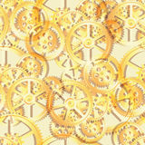 Gears mechanical seamless gold Royalty Free Stock Photography
