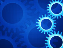 Gears mechanics background. Concept design royalty free illustration