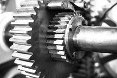 Gears from mechanism Royalty Free Stock Photos