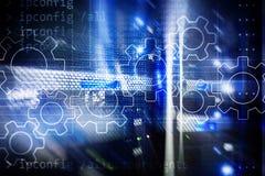 Gears mechanism, digital transformation, data integration and digital technology concept. Gears mechanism, digital transformation, data integration and digital stock image