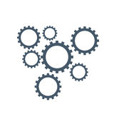 Gears mechanism logo. Vector gears mechanism isolated in white background Stock Photography