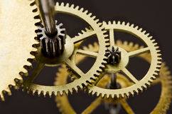 Gears mechanism, macro view Royalty Free Stock Image