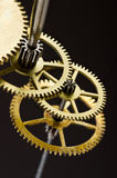Gears mechanism, macro view Royalty Free Stock Images