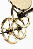 Gears mechanism, macro view Royalty Free Stock Photo