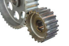 Gears of mechanisms Royalty Free Stock Images