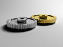 Gears in mesh Royalty Free Stock Photos