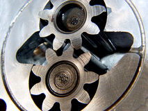 Gears Meshing royalty free stock images