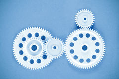 Gears meshing togethe Royalty Free Stock Images