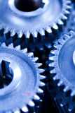 Gears meshing together, technic concept Royalty Free Stock Photo