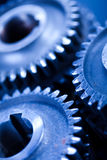 Gears meshing together, technic concept Stock Photos