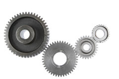Gears. Metal gears on plain background Royalty Free Stock Image