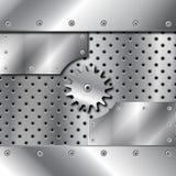 gears metallplattan Royaltyfri Foto