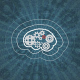 Gears mind. EPS10 vector Stock Image