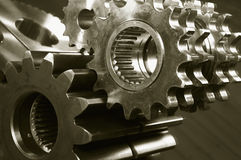 Gears and mirror effects Stock Photo