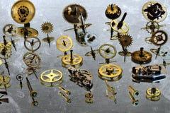 The gears on the mirror. Stock Photos