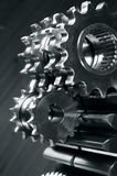Gears and mirrors Royalty Free Stock Photo