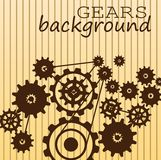 Gears modern background Royalty Free Stock Photos