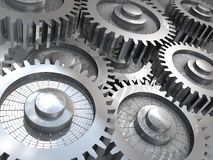 Gears in motion Stock Image