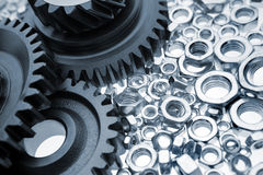 Gears & nuts Royalty Free Stock Photo