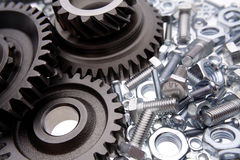 Gears & nuts Stock Photography