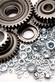 Gears and nuts Royalty Free Stock Photography