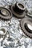Gears nuts & bolts Stock Image