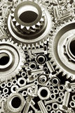Gears, nuts & bolts Royalty Free Stock Images