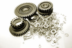 Gears, nuts & bolts Royalty Free Stock Photos