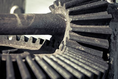 Gears, nuts and bolts, great technology background Royalty Free Stock Image