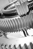 Gears, nuts and bolts, great technology background Royalty Free Stock Photo