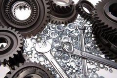 gears nuts skruvnycklar Arkivbilder