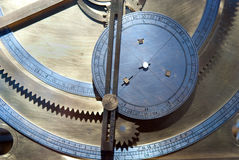 Gears from old clock mechanism Royalty Free Stock Images