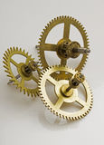 Gears of the old clock Stock Image