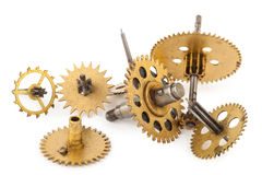 Gears from old clock Royalty Free Stock Images