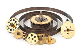 Gears from old clock Royalty Free Stock Image