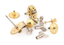 Gears from old clock Stock Photo