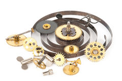 Gears from old clock Stock Image